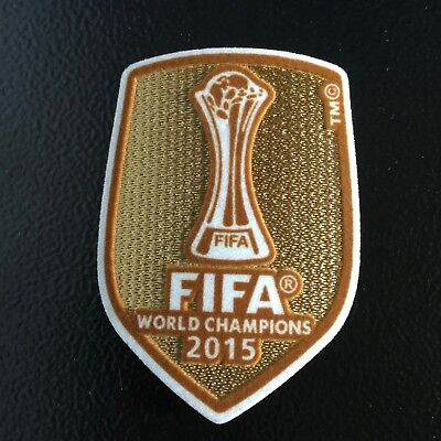 FIFA Club World Cup Champions 2015 patch - FC Barcelona- Messi Iniesta