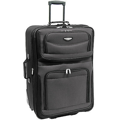Travel Select 29 Gray Amsterdam Rolling Luggage Expandable Wheeled Suitcase Bag
