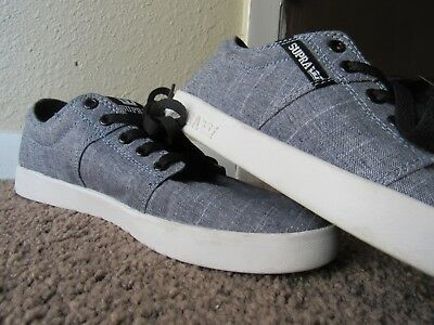 Mens Grey Supra Low top skate shoes size 9-5