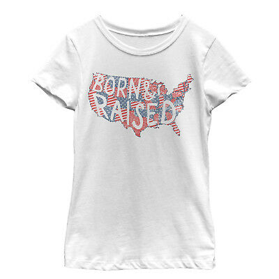 Lost Gods Fourth of July U-S-A- Born Girls Graphic T Shirt
