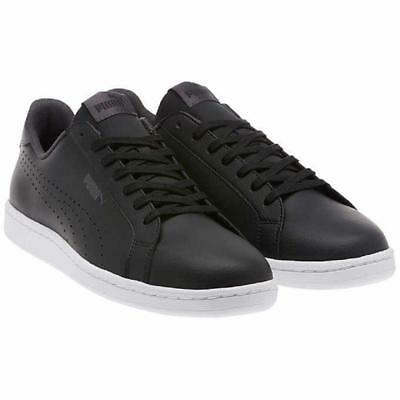 PUMA Mens Smash Leather Classic Sneaker - Black New