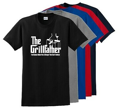 The Grillfather Parody T-Shirt Funny God Father Fathers Day Tee Shirt S-5XL