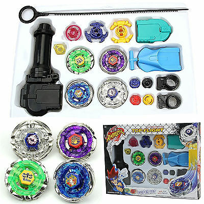 Top Metal Master Fusion Rapidity Fight Beyblade 4D Launcher Grip Set US Shipping