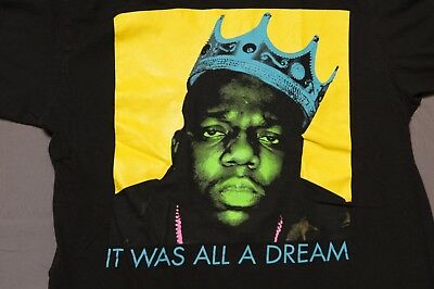 Biggie Smalls It Was All A Dream M Shirt Notorious B-I-G- Brooklyn Mint hip hop