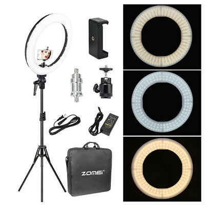 18 LED SMD Ring Light Kit With Stand Dimmable 5500K For Camera Makeup Phone
