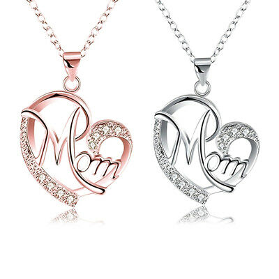 Women Lady Mom Pendant Necklace Gift for Mother Daughter Grandmother Jewelry US