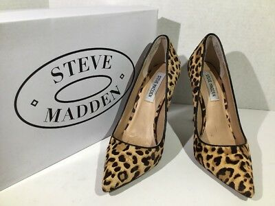 Steve Madden Daisie Womens Size 7-5 Leopard Print Pointy-Toe Pumps Shoes ZS-1375