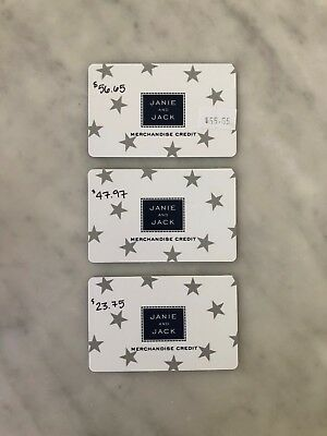 Janie and Jack Gift Cards - 3 cards for total of 128-37