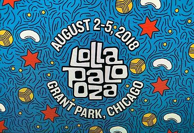 2 Lollapalooza 2018 4 Day Pass Concert Tickets  Grant Park 82-8518