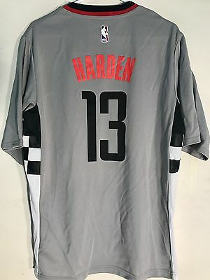 Adidas NBA Jersey Houston Rockets James Harden Grey Short Sleeve sz L