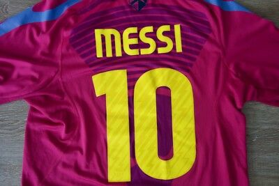 Nike FC Barcelona Lionel Messi Soccer Jersey Mens Size Medium Rare color