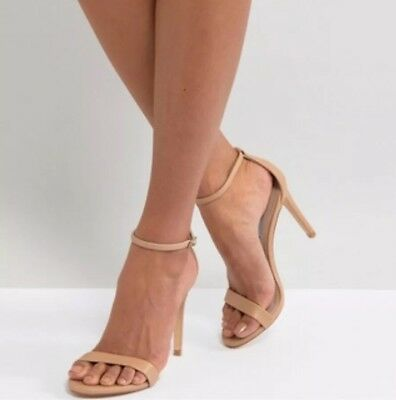 NWOB Steve Madden Stecy Nude Natural Stiletto Heels Sandals Size 5-5