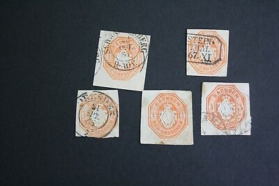 Germany Deutschland  Saxony lot of cut squares
