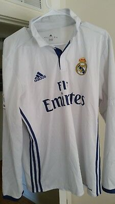 Real Madrid 2016-17 football soccer white jersey used large la liga