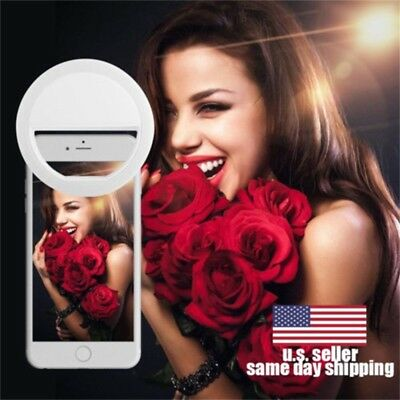 Selfie Portable LED Ring Fill Light Camera for Cell Phone iPhone X 8 Samsung S9