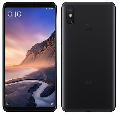 Xiaomi Mi Max 3 64GB FACTORY UNLOCKED 6-9 4GB RAM Black Gold Blue Global