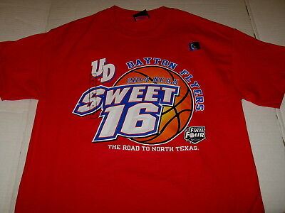 DAYTON FLYERS Road to Final Four - SWEET 16 Basketball 2014 NCAA T-Shirt NWT MED