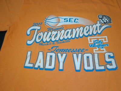 2011 SEC TOURNAMENT TENNESSEE LADY VOLUNTEERS VOLS  SMALL T SHIRT   F2