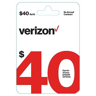Brand New 40 40  Verizon Wireless Prepaid Refill Phone Card  Email Delivery