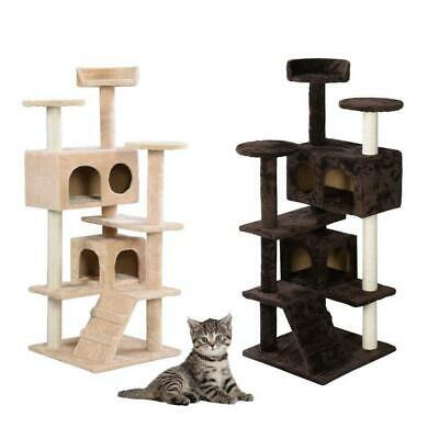 52 60 Cat Tree Tower Condo Furniture Scratch Post Pet Tree Kitty Play House
