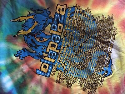 Authentic XL Lollapalooza Tie Dye T Shirt Red Hot Chili Peppers Chicago Vintage