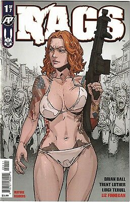 RAGS 1 1st PRINT NM ANTARCTIC PRESS ZOMBIES HOT BOOK SOLD OUT