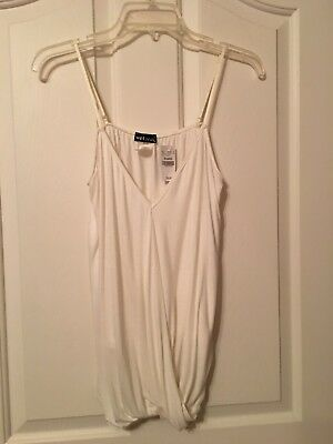 Womans New Off White Sleeveless Top Size XL By Wet Seal