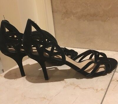 NWD STEVEN by steve madden black suede cut-out size 10