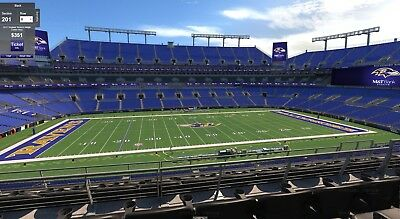 09232018 BALTIMORE RAVENS vs BRONCOS 2 CLUB LEVEL TICKETS SECTION 201 ROW 3