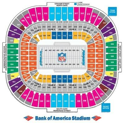 Carolina Panthers vs- New York Giants 2 Tickets Great Seats