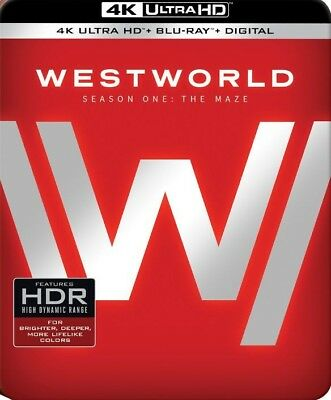 New Westworld The Complete First 1st Season Steelbook 4K UHD Blu-ray
