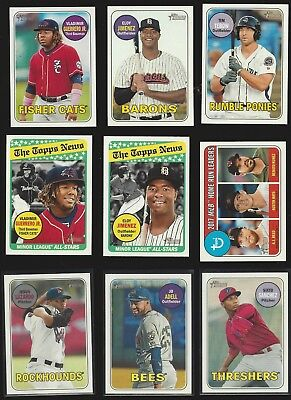 2018 TOPPS HERITAGE MINOR LEAGUE - PROSPECTS ROOKIE RCS  - WHO DO YOU NEED