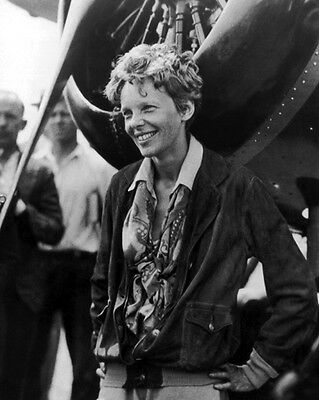 American Aviator AMELIA EARHART Glossy 8x10 Photo Vintage Photograph Reprint