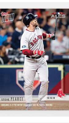 2018 TOPPS NOW ALCS CARD GAME 3 RED SOX STEVE PEARCE 894 2-2 LEADOFF HOME RUN
