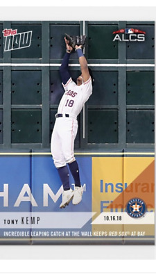 2018 TOPPS NOW ALCS CARD GAME 3 ASTROS TONY KEMP 893 INCREDIBLE LEAPING CATCH