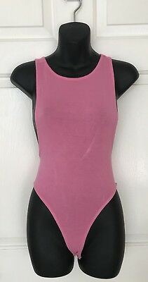 NWT Womens Forever 21 Pink Bubble Gum Sexy Body Suit Barbie Size Small