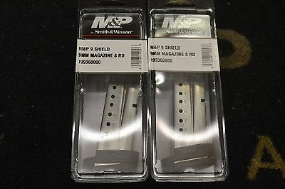PAIR of Factory New Smith - Wesson M-P Shield 9mm 8rd Magazines