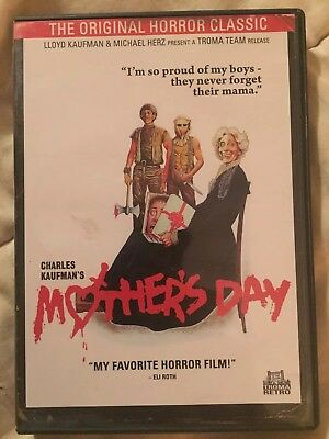 Mothers Day DVD Troma LIKE NEW 1980 Charles Kaufman Troma Retro Anchor Bay 2012