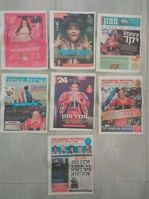 7 Netta Barzilai Israel Eurovision 2018 Winner Hebrew Newspapers magazines