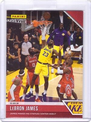 2018-19 Panini Instant NBA 21 LeBron James 1st Lakers Card - Only 233 made