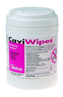 12 Metrex CaviWipes Multi-Purpose Disinfectant Wipes CASE of 1920 NEW - SEALED