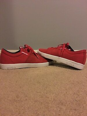 Terry Kennedy Red Supra Low top skate shoes size 9-5