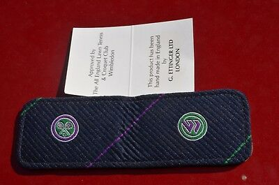 NEW Wimbledon magnetic money clip wallet All England Lawn Tennis - Croquet Club