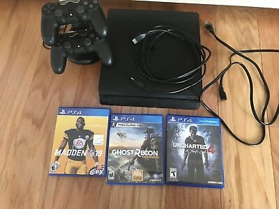 Sony PlayStation 4 Slim 500GB Gaming Console Bundle - Black CUH-2115A