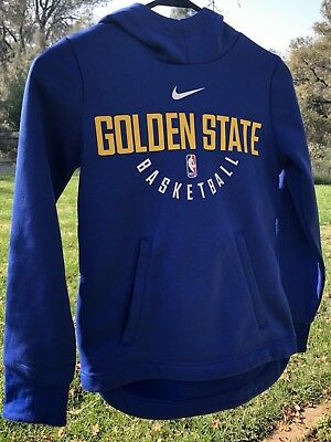 Golden State Warriors Official NBA Hoodie Nike Youth Small EUC