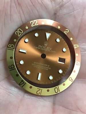 Rolex GMT Master Bronze Root Beer Gold Dial AND RootBeer insert 16753 QUICKSET