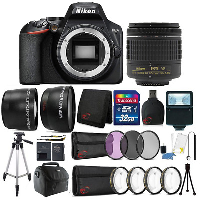 Nikon D3500 24-2MP DSLR Camera -  18-55mm Lens - 55mm Accessory Kit