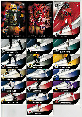 LOT OF 19 2018 PANINI BLACK FRIDAY FOOTBALL BASE - PARALLEL CARDS FAVRE RICE -
