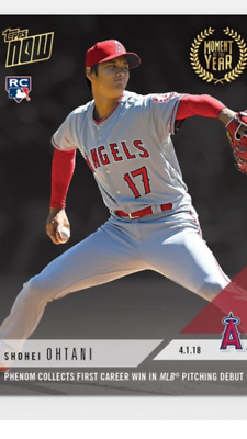 2018 TOPPS NOW CARD MOMENT OF THE YEAR 3 ANGELS SHOHEI OHTANI 1st CAREER WIN
