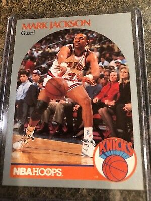 1990-1991 Hoops 205 MARK JACKSON infamous card Menendez Brothers in front row